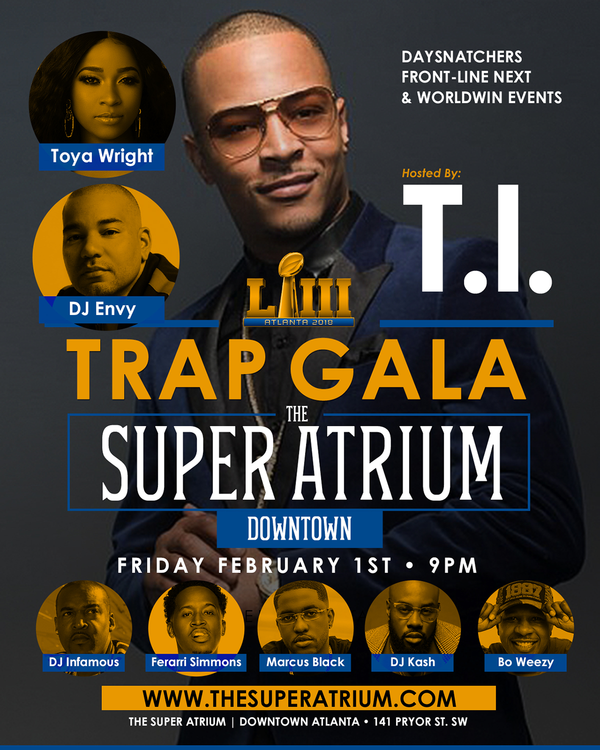 Trap Gala, One of Biggest Events Around To Grace LA, Miami, Orlando and Many Other Cities, Will be Hosted by T.I., Toya Carter, Ferrari Simmons & Many More Artists, Athletes and Actors TBA!